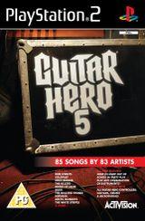 Jaquette Guitar Hero 5