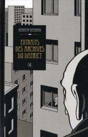 Couverture Extraits des archives du district