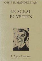 Couverture Le sceau égyptien