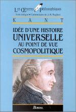 Couverture Idée d'une histoire universelle d'un point de vue cosmopolitique