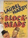 Affiche Laurel et Hardy - têtes de pioche