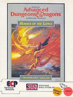Jaquette Advanced Dungeons & Dragons : Heroes of the Lance