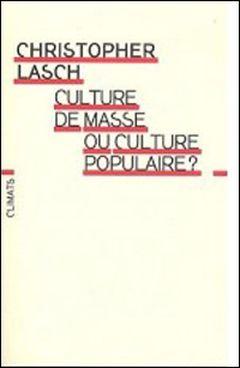Couverture Culture de masse ou culture populaire ?