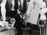 Affiche Charlot peintre