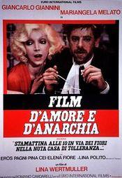 Affiche Film d'amour et d'anarchie