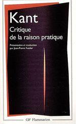 Couverture Critique de la raison pratique