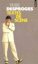 Couverture Textes de scène