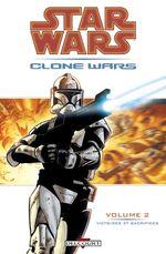 Couverture Victoires et sacrifices - Star Wars : Clone Wars, tome 2