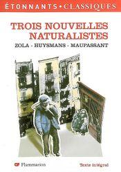 Couverture Trois nouvelles naturalistes