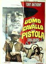 Affiche Un homme, un cheval et un pistolet