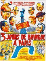Affiche Trois jours de bringue a Paris