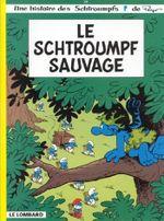 Couverture Le Schtroumpf Sauvage - Les Schtroumpfs, tome 19