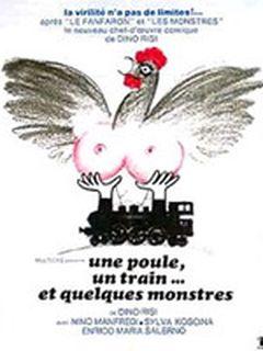Affiche Une poule, un train et quelques monstres