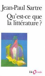 Couverture Qu'est-ce que la littérature ?