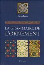 Couverture Grammaire de l'ornement