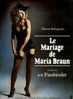 Affiche Le mariage de Maria Braun