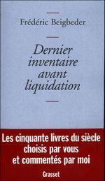 Couverture Dernier inventaire avant liquidation