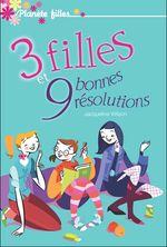 Couverture 3 filles et 9 bonnes résolutions