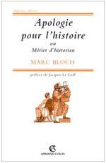 Couverture Apologie pour l'histoire ou Métier d'historien