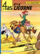 Couverture Les 4 as et la licorne