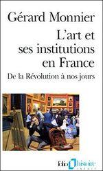 Couverture L'art et ses institutions en France