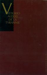 Couverture De la tyrannie