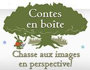 Jaquette Contes en boîte : Chasse aux images en perspective !