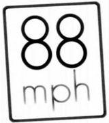Affiche 88 miles à l'heure