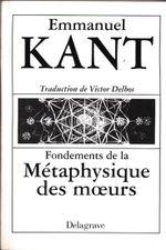 Couverture Fondements de la Métaphysique des mœurs