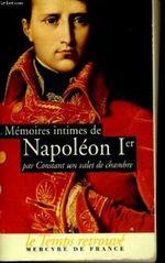 Couverture Mémoires intimes de Napoleon 1er
