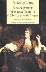 Couverture Pensées, portraits et lettres à Casanova et à la marquise de Coigny