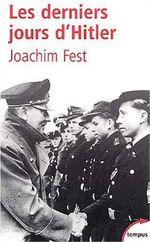 Couverture Les derniers jours de Hitler