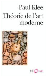 Couverture Théorie de l'art moderne