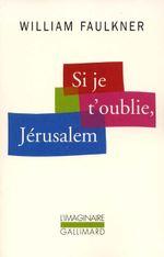 Couverture Si je t'oublie Jérusalem