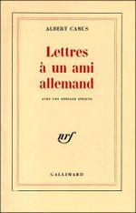 Couverture Lettres à un ami allemand