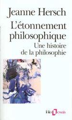 Couverture L'étonnement Philosophique