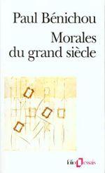 Couverture Morales du grand siècle