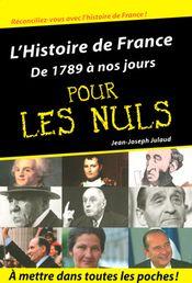 Couverture L'Histoire de France pour les Nuls - De 1789 à nos jours