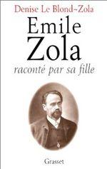 Couverture Emile Zola raconté par sa fille