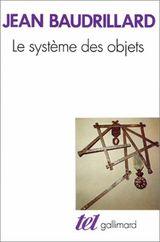 Couverture Le Système des objets