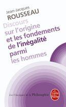 Couverture Discours sur l'origine et les fondements de l'inégalité parmi les hommes