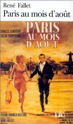 Couverture Paris au mois d'août