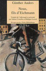 Couverture Nous, fils d'Eichmann