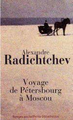 Couverture Voyage de Pétersbourg à Moscou