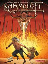 Couverture Perceval et le dragon d'airain - Kaamelott, tome 4