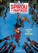Couverture Alerte aux Zorkons - Spirou et Fantasio, tome 51