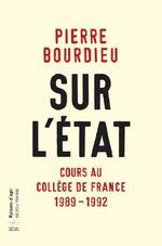 Couverture Sur l'Etat : Cours au Collège de France