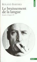 Couverture Le Bruissement de la langue