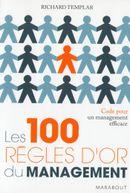 Couverture Les 100 règles d'or du management