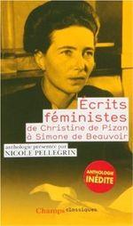 Couverture Ecrits féministes: De Christine de Pizan à Simone de Beauvoir